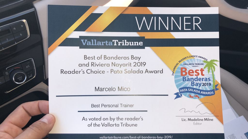 Recognized as the best Coach of Banderas Bay